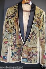 GORGEOUS !! DOLCE&GABBANA RUNWAY VICTORIAN MEN VELVET FITTED JACKET EU 52 US 42