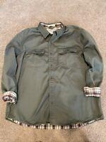 L.L. Bean Plaid Fleece Lined Jacket Olive Green Size XL Regular
