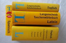 Langenscheidt Wörterbücher, 4 Stück, Latein- Englisch -Spanisch - Deutsch