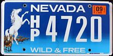 "NEVADA "" WILD & FREE - HORSE "" NV Specialty Graphic License Plate"