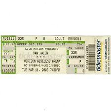 Van Halen Concert Ticket Stub Manchester Nh 3/11/08 Verizon David Lee Roth Rare