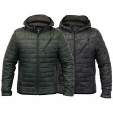 Brave Soul Hooded Quilted Coats & Jackets for Men