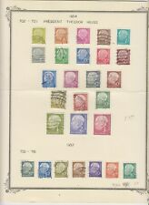 Germany complete 2 sets of Heuss stamps 1954 and 1957 issues used