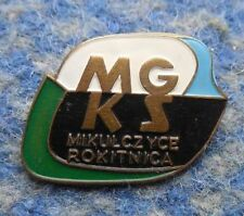 SPARTA ZABRZE - MIKULCZYCE ROKITNICA POLAND FOOTBALL SOCCER 1960's BIG PIN BADGE