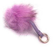 Flauschiger Plüsch Anhänger Schlüsselanhänger Handtaschenanhänger Lila