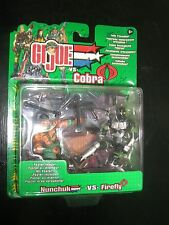 GI G.I Joe 2002 NUNCHUK VS FIREFLY COBRA 2 PACK MOC