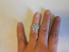 Ring from Avon (new) BOLD METALS 5 PIECE RING SET SILVERTONE (SZ 6)