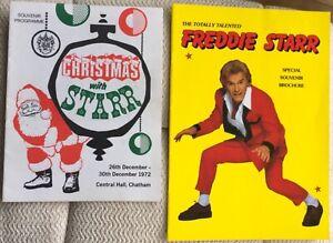 VINTAGE FREDDIE STARR PROGRAMMES ( 2 ) (FAIRFIELD HALL'86 - INC.TKTS ) - CHATHAM