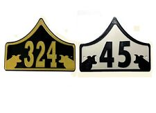 Border Collie House Door Number Plaque -Garden Gate Dog Sign (0 to 999)