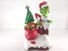 2000 Universal Studios Grinch Stole Christmas Talking Lights Animated Bank Dog