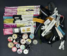 Vintage Zippers & Thread Spools Huge Lot Jp Coats Talon 60s 70s Sewing Notions