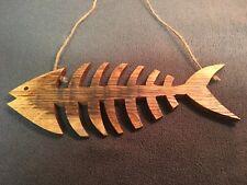 Fish Bones Solid English Oak,Nautical Bathroom Hanging accessories Seaside Beach