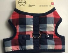 New listing Bond & Co. /Adjustable Red, Navy and Gray Check Shearling Wrap Harness/Xsmall