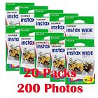 Fuji FujiFilm Instax Wide Film for Instant 210 200 100 300 Camera Photos