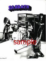 ORIGINAL BLACK SABBATH 1970 RARE ART DRAWING POSTER PRINT 2 MATTE FINISH