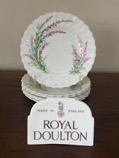 Royal Doulton BELL HEATHER SCALLOPED Bread & Butter Plate~ Set of 6