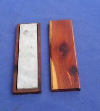 Razor/Knife Gray/White Hard Stone Arkansas Extra fine Sharpening Stone Vintage