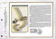 2975++FEUILLET CEF SUR  SOIE 1er JOUR 1995  ORGANISATION DES NATIONS UNIS