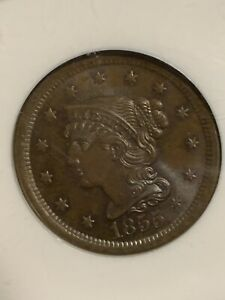 1855 MS 66 NGC braided Hair Large Cent Upright  PCGS PRICE GUIDE, 2250, TOP POP.