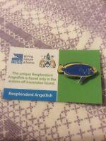 RSPB Pin Badge Resplendent Angelfish