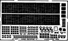 EDUARD 17007 Detail Set for Tamiya Kit HMS King George V in 1:700