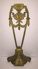 Vintage Architectural Salvage Ornate Gold Brass Standing Pediment Japan 22.5""