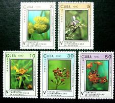1960 Latin America, Flora, 5 Stamps, Mnh