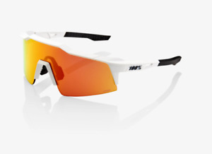 100% Speedcraft Soft Tact Off White Cycling Sunglasses - Red Multilayer Lens