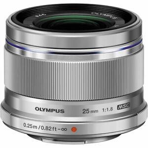 Olympus M. Zuiko Digital 25mm f/1.8 Weitwinkel MFT Objektiv-Silber-NEU