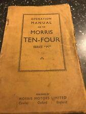ORIGINAL 1953 MORRIS TEN-FOUR 10-4 SERIES M SERVICE OPERATION REPAIR MANUAL