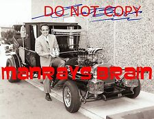 GEORGE BARRIS Signed Autograph RP 8.5 x 11 Photo THE MUNSTERS CAR  BATMOBILE