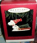 A Tree For Snoopy`1996`Hurrying Through The Snow With A Tree,Hallmark Ornament