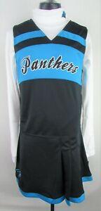 Carolina Panthers NFL Girl's 2 Piece Long Sleeve Cheer-leading Uniform MSRP: 40