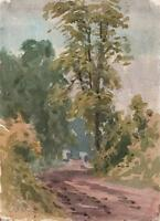 LAURENCE GEORGE BOMFORD Painting c1895 IMPRESSIONIST COUNTRY LANE LANDSCAPE
