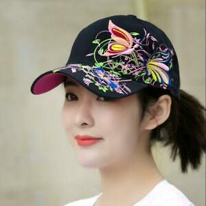 Lady Summer Baseball Cap Women Flowers Butterfly Embroidered hip-hop Hat