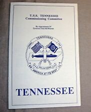 U.S.S.TENNESSEE Commissioning Committee Ceremony Info PAMPHLET BOOKLET uss 1988