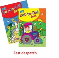 KIDS / CHILDRENS A4 DOT TO DOT / JOIN THE DOTS BOOK - 56 PAGES (112 IMAGES) NEW