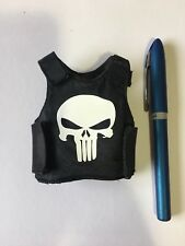1/6 Scale Punisher Black Armor Vest Military Skull
