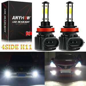 H11 LED Headlight Super Bright Bulbs Kit 330000LM HIGH/LOW Beam 6000K
