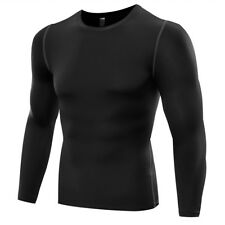Dry Fit Men Base Layer Top Tee Long Sleeve Under Skin T-Shirt Tights Trousers LC