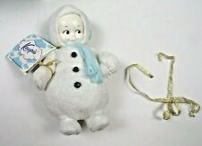 """2006 Kewpie Frosty Snowman Figurine Rose O'Neill 8"""" Cameo Collectible Christmas"""
