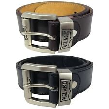 """CHILDRENS 1.5"""" LEATHER BELTS KIDS BELTS BOYS BELTS BY MILANO IN BLACK AND BROWN"""