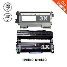 3 TN450 Toner &  DR420 drum for brother DCP-7070DW MFC-7860DW  DCP-7060 printer