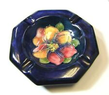 Moorcroft Clematis Pattern Octagonal Ashtray - 1950's - Made in England.