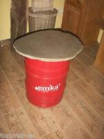 Couchtisch original Ölfass massive Steinplatte Unikat Vintage Tisch Shabby alt