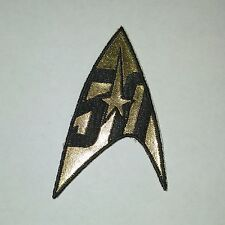 Star Trek Command Insignia Patch - 50 Years Gold - FREE S&H (STPA-5002)