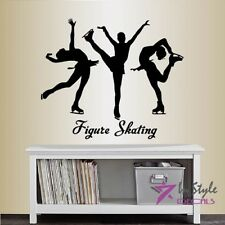 Vinyl Decal Figure Skating Ice Skating Sports Girls Bedroom Wall Sticker 1993