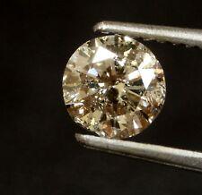 loose round diamond .73ct I2 Top Light Brown vintage estate antique