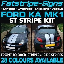 FORD KA MK1 ST STRIPES GRAPHICS DECALS STICKERS CAR VINYL ZETEC RS 1.3 ALLOYS