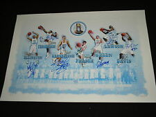 2009 Champs UNC Basketball Team 6X Signed Litho North Carolina Tyler Hansbrough